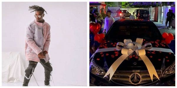 Laycon fans gift him Mercedes Benz car on his birthday | News Line